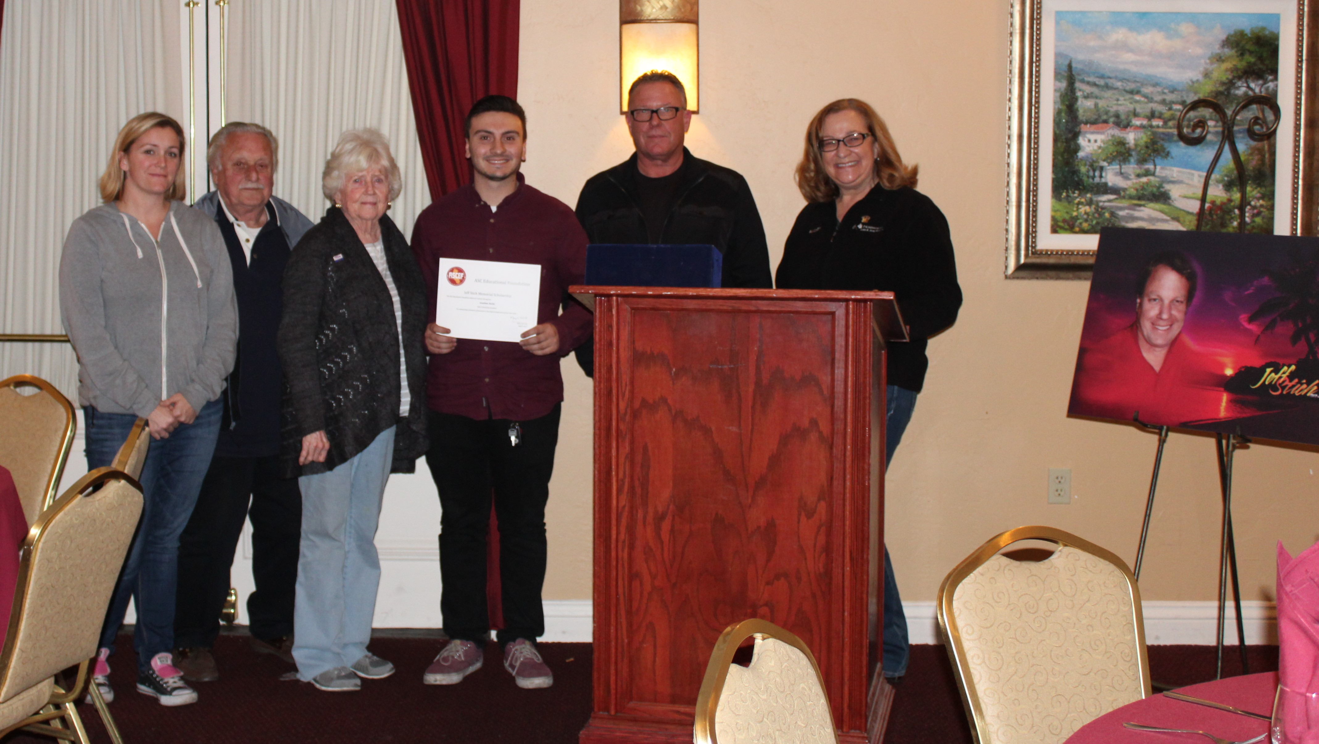 First Annual Jeff Stich Memorial Scholarship